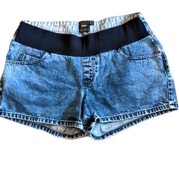 ASOS MATERNITY Denim Jean Underbelly Shorts 10
